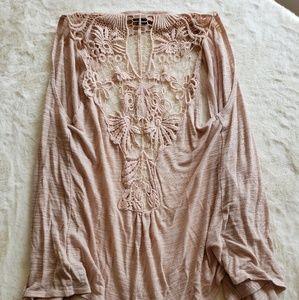 Tops - Crochet back flowy vest